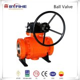 Forged Flange Connection Trunnion Mounted Ball Valve