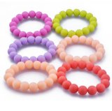 OEM Candy Color Silicone Bead Bracelets