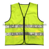 En471 100% Polyester Knitted LED Flashing Yellow Reflective Vest