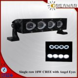 16′′ 80W LED Auto Light Bar with Angle Eyes, IP68 Ce Rhos Certification