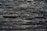 Black Marble Slate Culture Stacked Stone Textures Ledge Stone for Walls