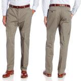 Custom Men′s Khaki Capri Leisure Cotton Trousers