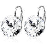 Metal Alloy Jewelry Silver Color Crystal Earring