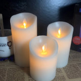 Diameter 3 Inch Dancing Flame Wax Candles LED