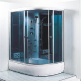 Chinese Bathroom Offset Curved Glass Shower Room Sale Manufacturer