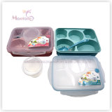5 Compartment Food Container Kids Plastic Lunch Box (970ml)