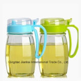 600ml Kitchenware Leakproof Clear Glass Oil Pot with Plastic Cap