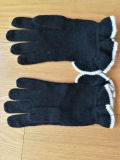 Cashmere Lady′s Raffly Scarf Gloves Set