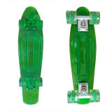22inch PP Mini Skateboard Cruiser Complete Skateboards Banana Skateboard Clear Green Design-34