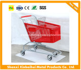210L American Supermarket Plastic Shopping Trolley Cart