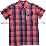 Casual Short Sleeve Check Shirts for Men (ELTDSJ-394)