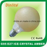 G125-40W 60W 75W 100W Ice Crystal Amber Incandescent Bulb