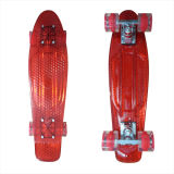 22inch PP Mini Skateboard Cruiser Complete Skateboards Banana Skateboard Clear Red-32