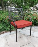 Concise Cast Aluminum Stationary Chair Garden Furniture