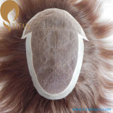 Factory Sale Human Hair Lace Toupee with PU
