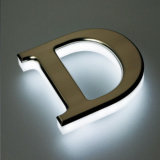 Exterior Back Lit Aluminum LED Channel Letters Metal Sign