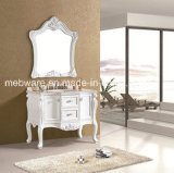 White Painted High Quality Bathroom Vanities with Mirror Cabinet