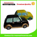 Ceramic Car Sharp Decoration Coin Bank for Children