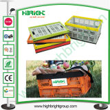 Plastic Mesh Folable Crate Container for Vegetable