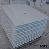 White Artificial Stone Solid Surface Shower Base