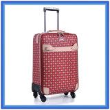 Portable Female Young Design Trolley Bag, Custom Printing Nylon Travel Luggage Trolley Case with Wheels
