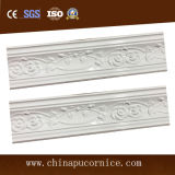 High Density Bright Surface 10 Cm Popular Rose PU Ceiling Cornice Moulding