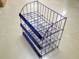 Practical 3 Layer Iron Display Rack Supermarket Display Stand for Store