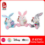 Happy Easter Rabbit Plush Soft Toys with Egg and Crayon