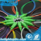 12 Color Fiber Optic Pigtail Sc APC Simplex 0.9mm