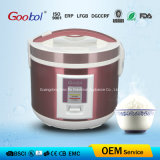 Stainless Steel Deluxe Rice Cooker with Plastic Steamer GS Ce BSCI RoHS LFGB