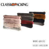 2017 New PU Fur Cosmetic Zipper Bag