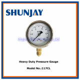 Heavy Duty Pressure Gauge with Brass Constitution