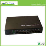 8-Port Unmanaged Gigabit Ethernet Switch with Eight SFP Ports