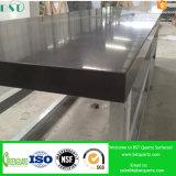 Pure Black Prefabricated Quartz Stone for Countertop