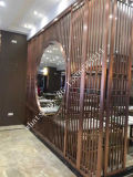 304 Stainless Steel Hotel Docoration Screen Restaurant Metal Perforated Partition