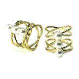 Fashion Jewelry Ring Gold Diamond Gemstone Crystal Women Men Engagement CZ Ring Custom Simply Shine White CZ 925 Sterling Silver Wedding Ring Pearl Ring