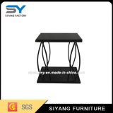 Dining Room Small Glass Side Table with Marble Top