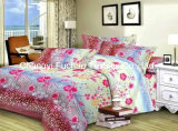 Twin Size Printed Microfiber Quilt Cover Faric for Bedding Set