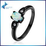 925 Sterling Silver for Women Jewelry Simple Oval Shape Opal Finger Ring