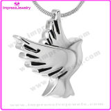 Peace Dove Pendant Necklace Stainless Steel Cremastion Urn for Ashes Keepsake Holder (IJD9496)