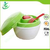 BPA Free Plastic Salad Bowl with 5 PCS Compartments