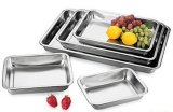 Home-Using Stainless Steel Square Mess Tray with Mirror Polishing (PP18078)