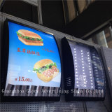 Fast Food Shop Indoor Used Double Sided LED Menu Light Box for Restaurant