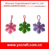 Christmas Decoration (ZY14Y559-7-8-9 10.5CM) Christmas Snowflake Xmas Tree Decoration