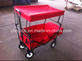 Hot Sell Construction Durable Use Red Fabric Folding Wagon (TC2015-1)