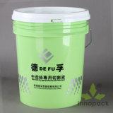 5 Gallon Printed Plastic Bucket with Lid Handle