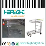 Supermarket Heavy Duty Warehouse Foldable Cargo Trolley