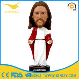 Cheap Resin Painted Jesus Doll Bobblehead Fifurine with SGS