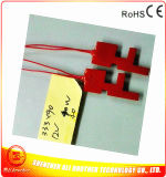 12V Silicone Rubber Heater for Metal Pipe 40W 33.3*90*1.5mm