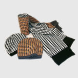 Jacquard Hat Scarf Three-Piece Suit